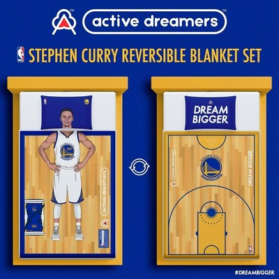 "Active Dreamers(TM) partners with NBA Star Steph Curry to launch first NBA Bedding Collection. The company was designed to inspire individuals to Dream Bigger(TM) and fulfill their dreams. ""I am proud to be a part of a brand whose goal is to inspire the youth to Dream Bigger,"" said Curry. ""Active Dreamers and I want every kid across the world to know dreams come true."""