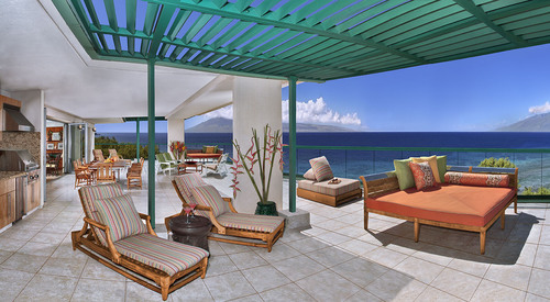 The Kamehameha Suite at Honua Kai Resort boasts the largest lanai on Maui at 3100 square feet of oceanfront ...