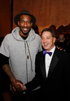 Basketball player Amar'e Stoudemire and Science Center President Jeffrey N. Rudolph pose during the 17th Annual Discovery Ball at the California Science Center on Saturday, March 7, 2015, in Los Angeles, California.(Photo by Ryan Miller/Capture Imaging)