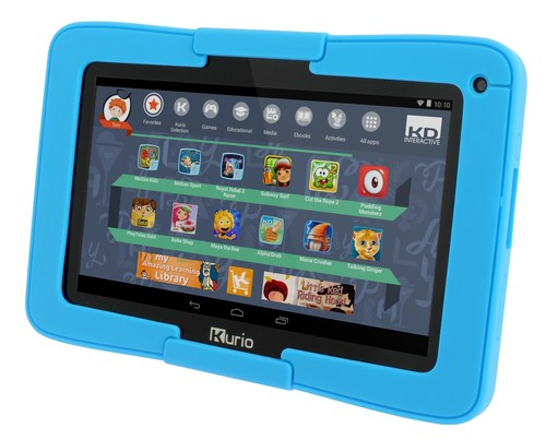 Designed for extreme play, Kurio Xtreme is the Ultimate Android Tablet Built for Kids.  It comes preloaded with 10 Kurio Motion body controlled games and more than $300 worth of free apps, games and other premium content.  This Google Certified device also offers access to millions of more apps through the curated Kurio Store and Google Play(TM).  A customizable easy-to-use child interface allows kids to choose their avatar, theme, wallpaper and password.  The kid tablet also comes with a protective bumper. (PRNewsFoto/Techno Source)