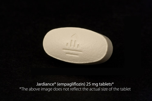 Jardiance (R)  (empagliflozin) 25 mg tablets* *The above image does not reflect the actual size of the tablet (PRNewsFoto/Eli Lilly and Company)