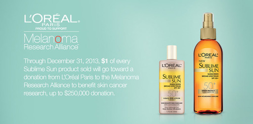 L'Oreal Paris Launches New Alliance with Melanoma Research Alliance To Help Fight Melanoma Among American ...