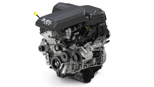 3.6-liter Pentastar V-6 powers 12 vehicles to 22 best-in-class benchmarks.  (PRNewsFoto/Chrysler Group LLC)