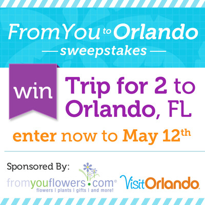 From You Flowers and Visit Orlando Launch the Ultimate Mother's Day Sweepstakes.  (PRNewsFoto/FromYouFlowers.com)