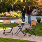 No More Splinters or Varnishing with New Faux-Wood Lifetime Bistro Set
