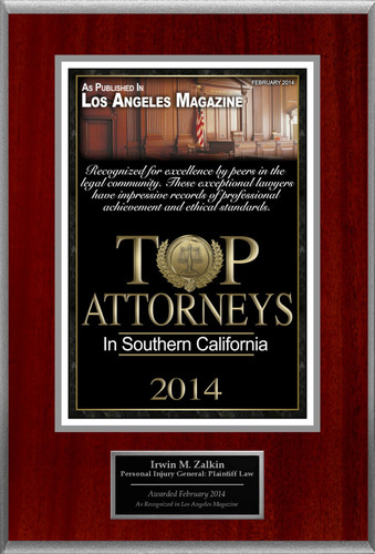 Attorney Irwin M. Zalkin Selected for List of Top Rated Lawyers in CA.  (PRNewsFoto/American Registry)