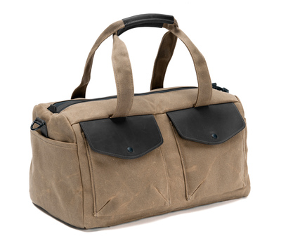 The WaterField Designs Outback Duffel�available in six color combinations with a choice of one or two main zippered compartments. Choose waxed canvas or ballistic nylon with leather accents in black, chocolate or grizzly. (PRNewsFoto/WaterField Designs )