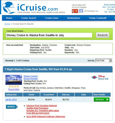 iCruise.com introduces Natural Language Cruise Search