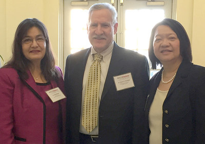 Dr. Alice Murillo, the College's new Associate Provost of the Chelsea Campus, Massachusetts Higher Education Commissioner Carlos E. Santiago, and Bunker Hill Community College President Pam Eddinger gathered with education, business and nonprofit organization leaders to dicuss plans to meet the needs of Chelsea's Latino community.