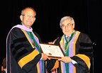 Stanley M. Bergman, Chairman of the Board and Chief Executive Officer, Henry Schein, Inc., is presented with Honorary Fellowship in the International College of Dentistry (ICD) - USA Section by Curtis R. Johnson, D.D.S., F.I.C.D., 2014 President.