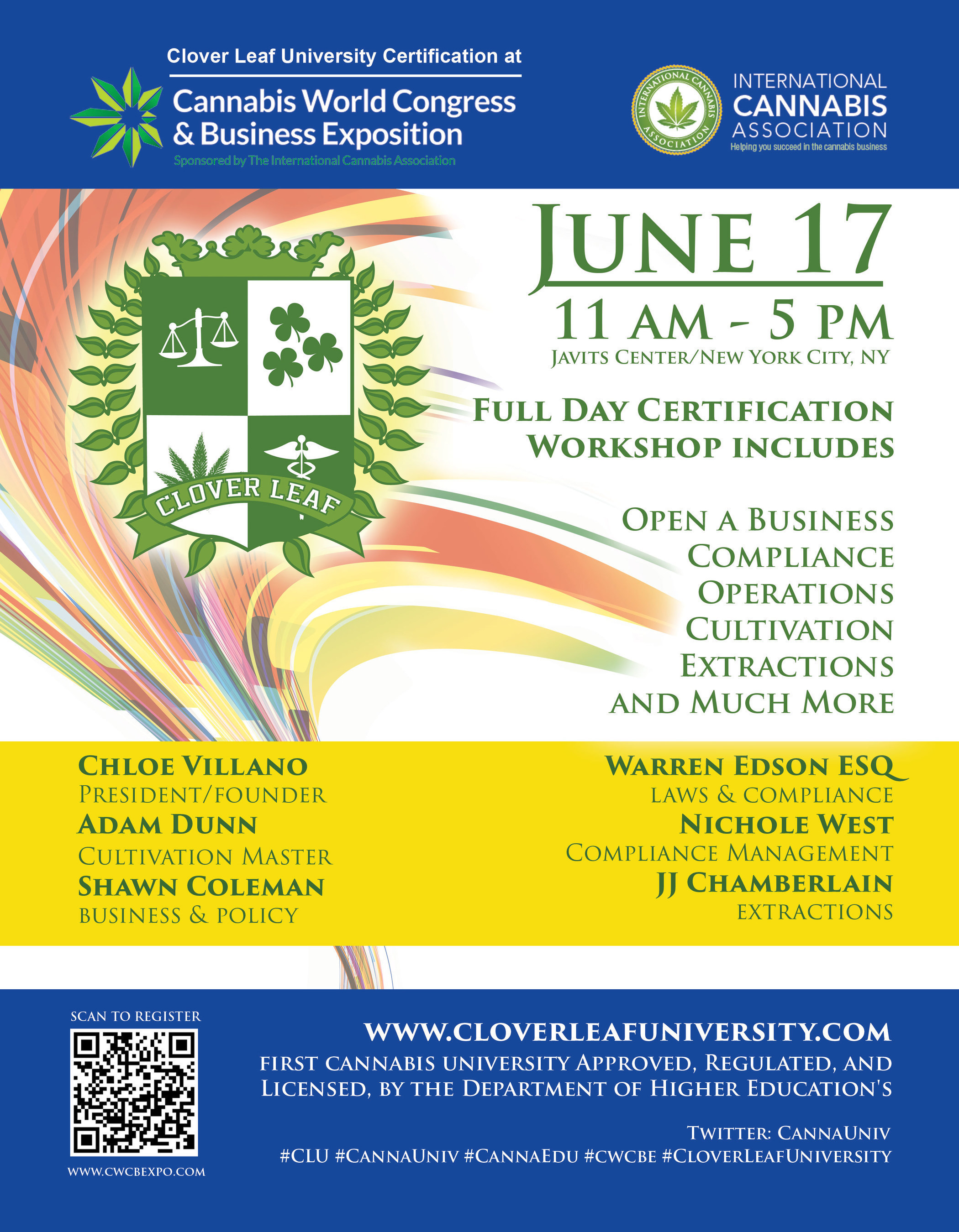 First Cannabis Business Certification Class and Career Workshops Presented at Leading New York Cannabis Trade ...