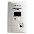 Kidde's Nighthawk CO Alarm is an easy-to-install plug-in unit with battery backup and digital display.  (PRNewsFoto/Kidde)
