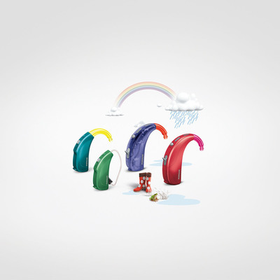 Colorful models: Sky Q ensures there is a hearing solution to fit every child. (PRNewsFoto/Phonak)