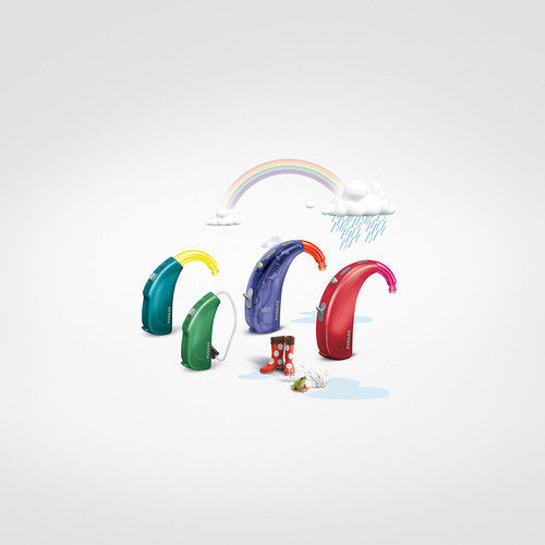 Colorful models: Sky Q ensures there is a hearing solution to fit every child. (PRNewsFoto/Phonak) (PRNewsFoto/PHONAK)