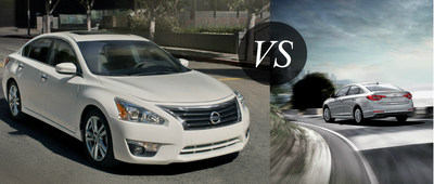 Ingram Park Nissan weighs the 2015 Nissan Altima's strengths against the 2015 Hyundai Sonata. (PRNewsFoto/Ingram Park Nissan)