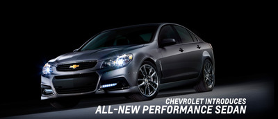 The 2014 Chevy SS will be the first rear-wheel-drive sedan to enter the Chevy lineup in 17 years.  (PRNewsFoto/Bill Jacobs Plainfield)