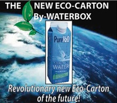 *R*Evolutionary, Eco-Carton of the Future - By WaterBox. (PRNewsFoto/WaterBox)