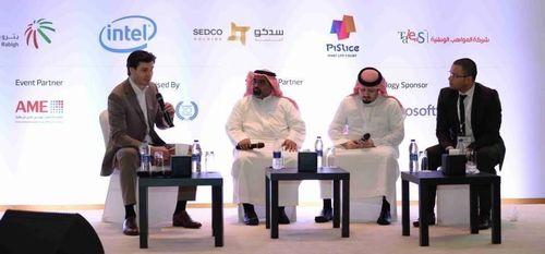 Drs Daan Elffers (far left) moderating a panel discussion at CSR Saudi Arabia in Jeddah (PRNewsFoto/EMG CRS Consultancy)