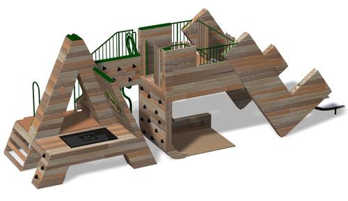 ATL Landscape Structures Playground to be built in Woodruff Park.  (PRNewsFoto/Landscape Structures)