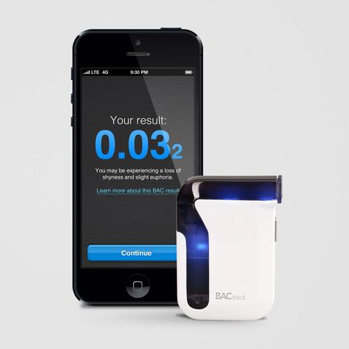 The World's First Smartphone Breathalyzer.  (PRNewsFoto/BACtrack)