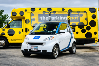 car2go and The Parking Spot: Airport Parking Made Easy in Austin, Texas.