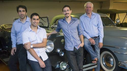 Argus Founders from right to left: Zohar Zisapel, Chairman; Oron Lavi, VP R&D; Ofer Ben Noon, CEO; Yaron ...