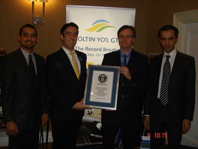 James Vaughan, and Guinness World Record adjudicator Jack Brockbank