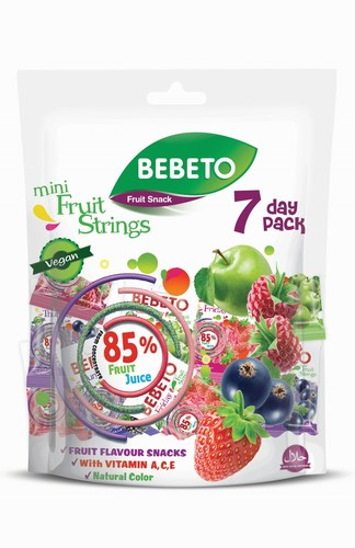 BEBETO 7 DAY PACK: innovative new high juice fruit snack from Kervan is now available in the UK.We have worked to develop a great tasting high juice snack that meets the demands of our modern family lifestyle with low added sugar, high fruit juice and which is packaged in a fun portion controlled pack ideal for lunch boxes and as a fat free snack all day.Bebeto 7 Day Pack is packed in a re-sealable pouch bag to ensure the products are always fresh and maintain their great taste. (PRNewsFoto/Kervan Gida) (PRNewsFoto/Kervan Gida)
