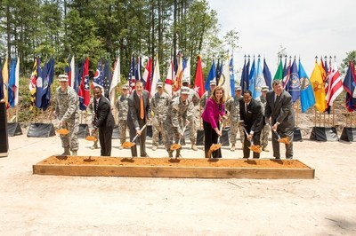Leaders from Georgia Power, the Georgia Public Service Commission, the U.S. Army, the U.S. Army Office of Energy Initiatives and the General Services Administration break ground on the Georgia 3x30 solar project at Fort Gordon near Augusta, Ga.