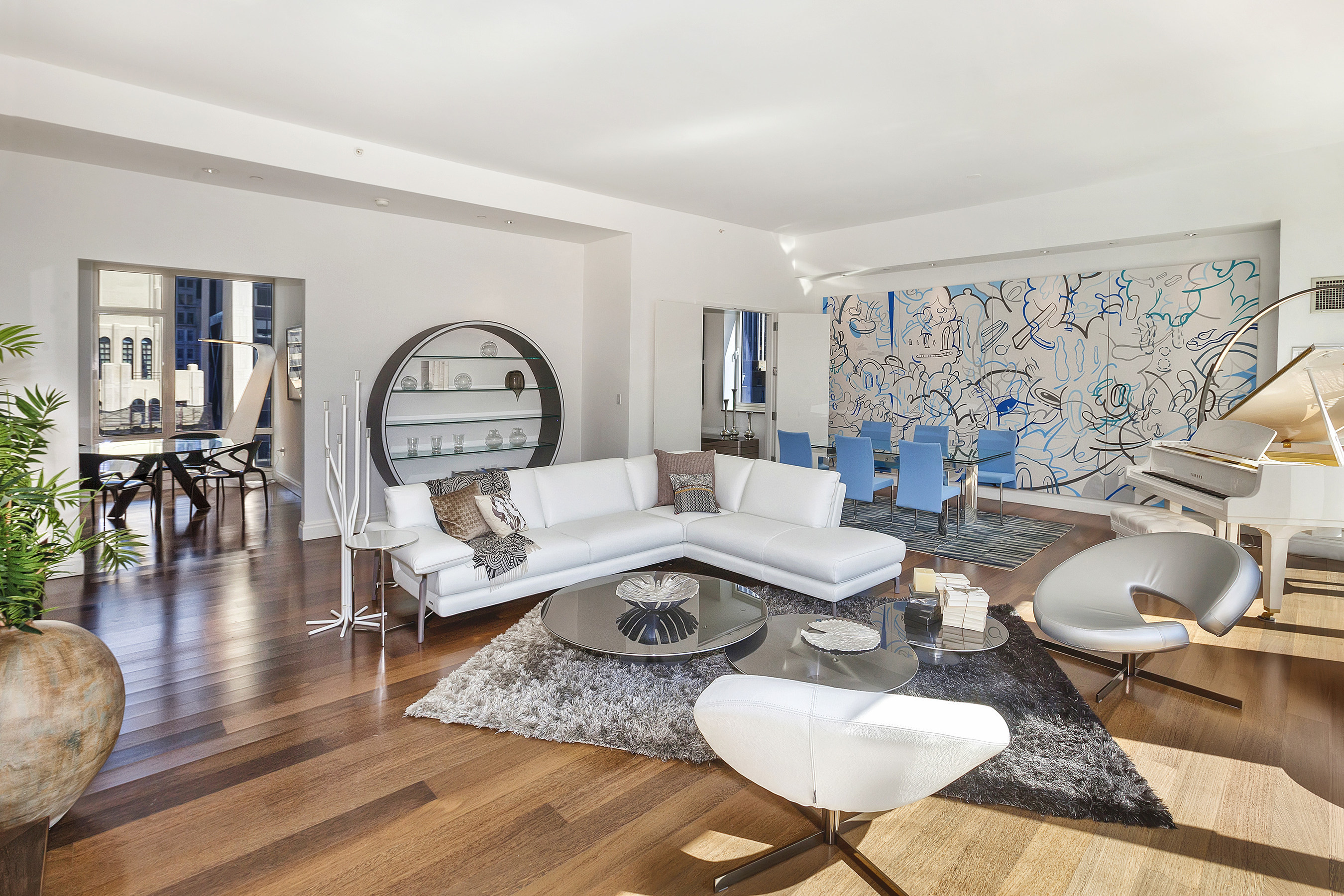 Centurion Penthouse Furnished Living Room By Roche Bobois