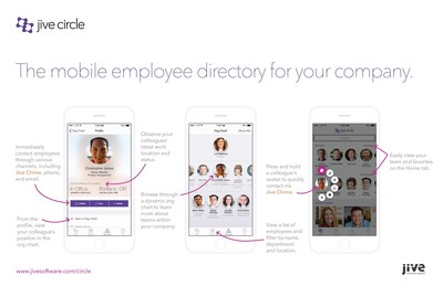 Jive Circle:  The mobile employee directory for your company.