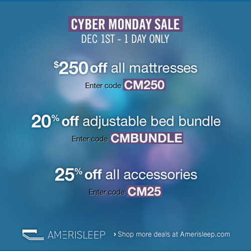 Amerisleep Announces Cyber Monday Memory Foam Mattress Deals for 2013.  (PRNewsFoto/Amerisleep)