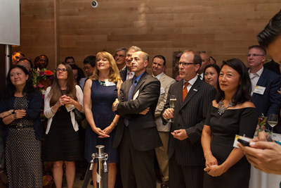 Guests at the grand opening of the Cambria hotel & suites New York-Chelsea