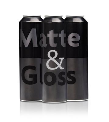 Ball Corporation's new Matte & Gloss printing technique for aerosol packaging. (PRNewsFoto/Ball Corporation) (PRNewsFoto/BALL CORPORATION)