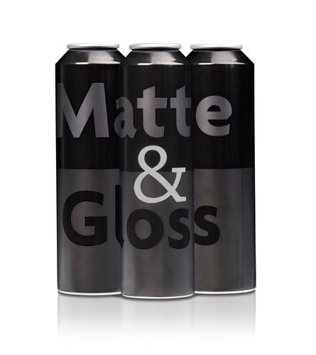 Ball Corporation's new Matte & Gloss printing technique for aerosol packaging. (PRNewsFoto/Ball ...