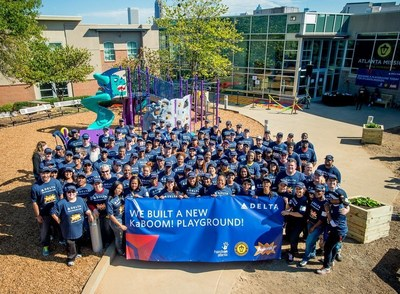 Delta employees at KaBOOM! build in Atlanta
