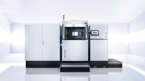 EOS M 400-4 Additive Manufacturing system for Direct Metal Laser Sintering (PRNewsFoto/EOS)