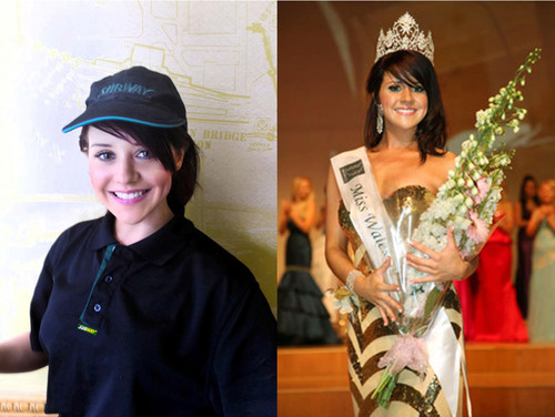 SUBWAY(R) Sandwich Artist(TM) Sara Manchipp Wins Title of Miss Wales 2011.  (PRNewsFoto/SUBWAY Restaurants)