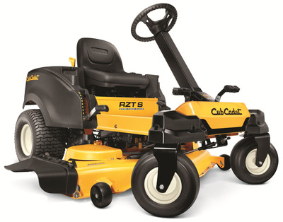 Consumers Digest revealed in its April issue that the Cub Cadet RZT(R) S zero-turn riding mower is once again distinguished as a Best Buy in Riding Lawnmowers. Also a Best Buy in 2012, the first year in market, the RZT S was the world's first residential zero-turn riding mower with patented Synchro-Steer technology; an advancement that delivered zero-turn maneuverability with four-wheel steering controlled by an operator-friendly steering wheel. The Best Buy rating extends to all RZT S models, which includes models with 42, 46, 50, and 54 inch decks.  (PRNewsFoto/Cub Cadet)