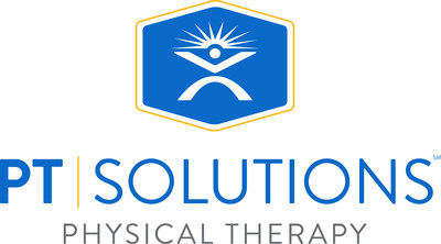 The logo for PT Solutions, which operates 70 physical therapy clinics in eight states.