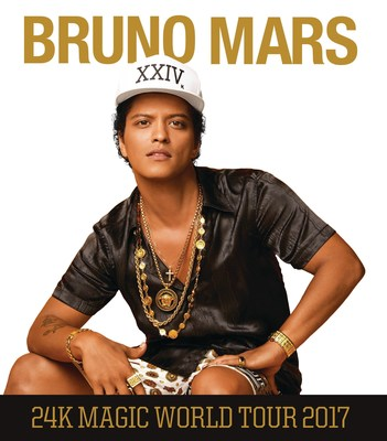 GRAMMY AWARD WINNER AND MULTI-PLATINUM SELLING SUPERSTARBRUNO MARSTO BRING THE 24K MAGIC WORLD TOUR TO NORTH AMERICA AND EUROPE IN 2017