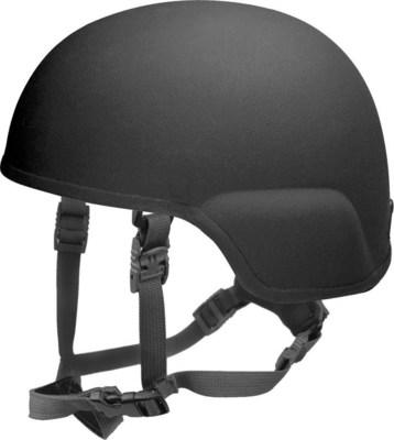 Ein leichter Helm mit Beschlusshemmung bis zum Kaliber 7,62x51 M80 bei einem Maximalgewicht von 1,5 kg in kompletter Konfiguration. Es gibt den Helm in einer Gefechtshelmausstattung, Polizeikonfiguration und mit einer Ausstattung fur Spezialkräfte. Ein sehr populärer Helm bei Spezialkräften fur den Einsatz in urbanen und asymmetrischen Operationen. (PRNewsFoto/ArmorSource LLC.)