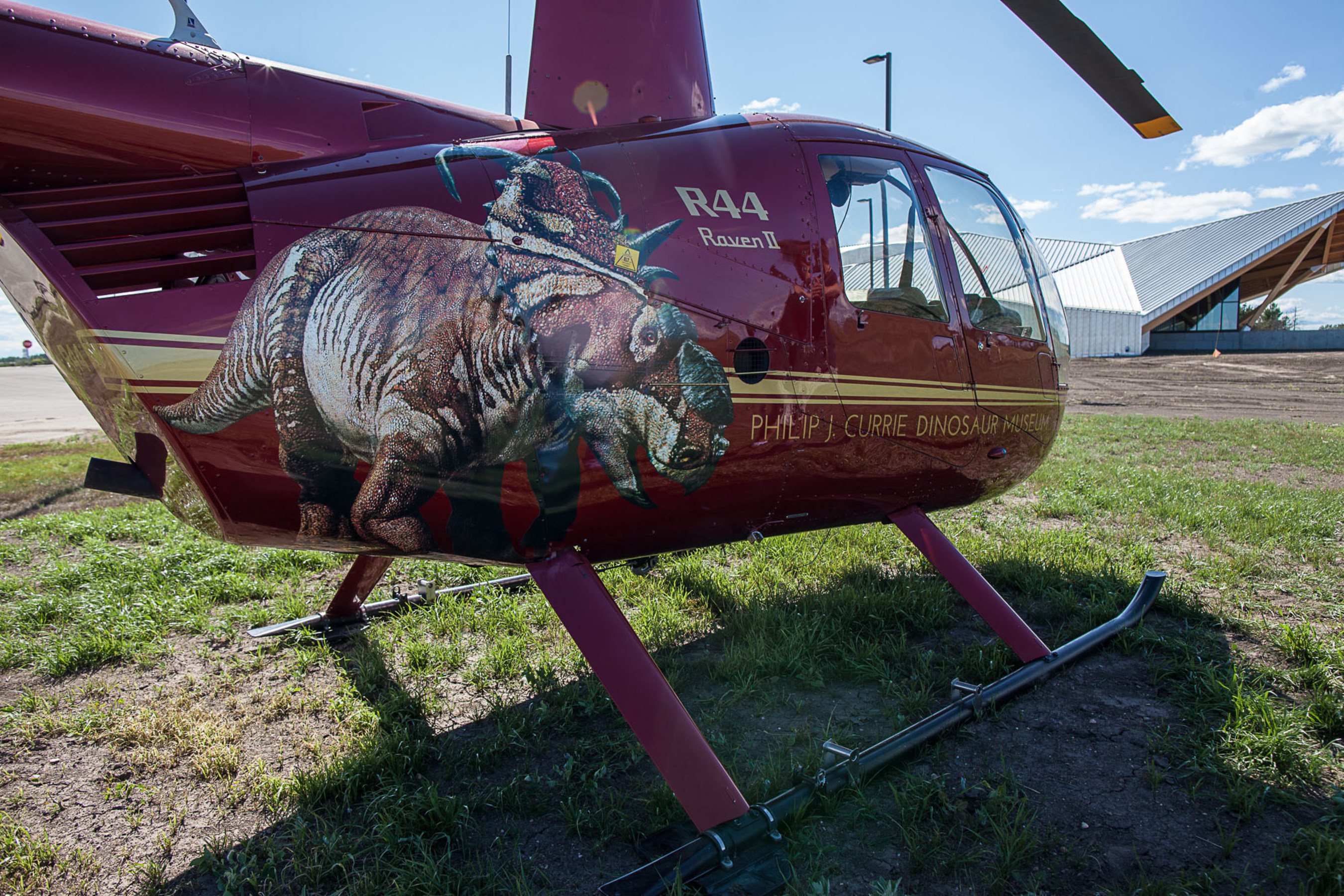 Philip J. Currie Dinosaur Museum Premiers Bone Bed Helicopter Tours