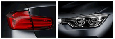 HELLA LED tail lamps and headlamps on the 40th anniversary BMW 3-Series.