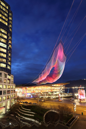 Arup Engineers Massive Echelman Sculpture for TED2014. Image Credit: Photos by Ema Peter; Sculpture by Janet ...