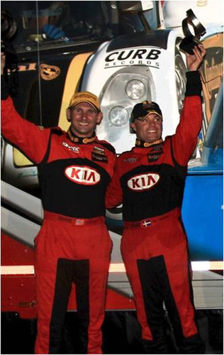 Kia Racing drivers Nic Jonsson and Andy Lally take second place at Barber Motorsports Park, scoring their second-consecutive runner-up finish in the 2012 Continental Tire Sports Car Challenge. (PRNewsFoto/Kia Motors America)