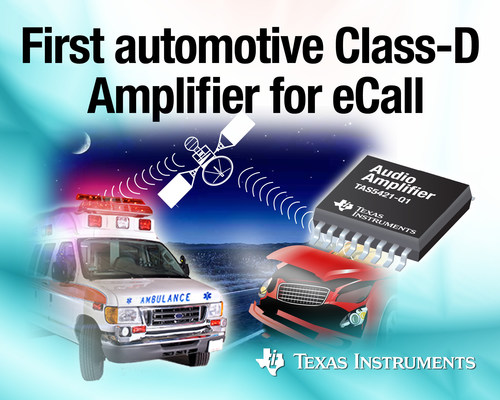 TI introduces first fully integrated mono, Class-D audio amplifier for eCall, instrument cluster and telematics  ...