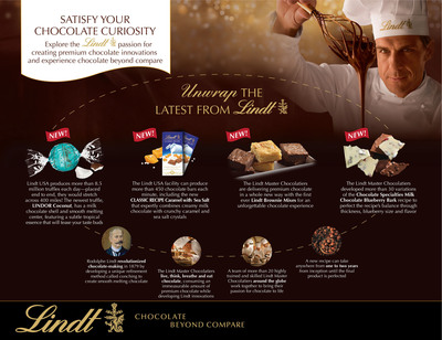 Lindt Continues Its Rich History Of Premium Chocolate Innovations With Introduction Of New Signature Products. (PRNewsFoto/Lindt USA) (PRNewsFoto/LINDT USA)