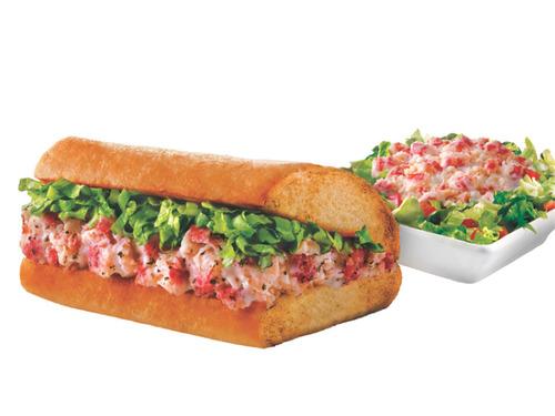 Quiznos Lobster & Seafood Sub and Salad.  (PRNewsFoto/Quiznos)