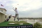 "2013 Senior PGA Champion Kohki Idoki Takes a ""Shot at the Inn"" for Local Charity. Photo credit: PGA of America/Ted Leemaster. (PRNewsFoto/PGA of America)"